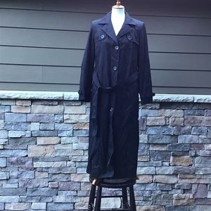 Black raincoat with cold weather lining & hood